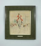 "Vintage equestrian print ""The Master"" by Cecil Aldin."
