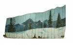Ski Painting on Large Panel.