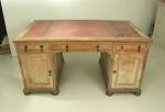 Antique Partners Desk, Limed Oak