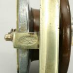 Vintage Allcock Fishing Reel in Walnut and Alluminium