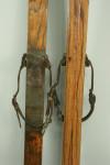 Pair of Antique Skis, Original Bindings