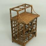 Vintage Bamboo Wine Bottle Rack
