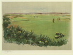 Golf Prind, Cecil Aldin. St Andrews The 5th and 13th,