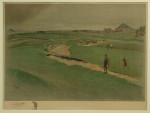 Golf Lithograph, North Berwick, Cecil Aldin