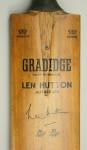 VINTAGE GRADIDGE CRICKET BAT, LEN HUTTON.