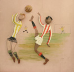 Cricket Sporting Panel By Bernard Hesling