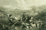 Antique Shooting Engraving Crossing The Tay,