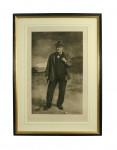 Antique Golf Print, Golfer, Charlie Hunter of Prestwick, Photogravure.