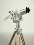 Vintage Polish Observation Binoculars on Tripod