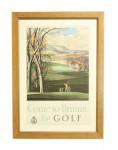 'Come to Britain for Golf', Golf Poster By Rroland Hilder