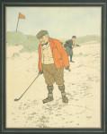 Golfing Print 'Lost Ball' After John Hassall