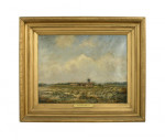 Golf Oil Painting of Wimbledon Common by Edwin Harris