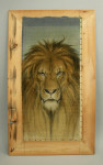 Wildlife Painting of a Lion
