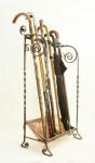 Iron and Copper Umbrella Stand