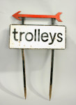 Antique Metal Golf Course Sign For Trolleys
