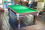 Antique Mahogany Riley Dining Snooker Table.