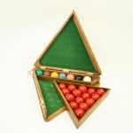 Triangular Snooker Ball Box.