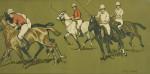 Polo Chromolithograph. Polo Match, Colour Print.