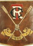 Leather shield, Thames Rowing Club.
