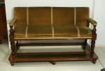 Antique Billiard Room Bench, Seat.