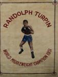 Boxing Carpet, Randolph Turpin. Middleweight Champion of the World. Sugar Ray.