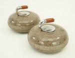 Antique Miniature Curling Stones.
