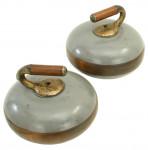 Rare Wooden Curling 'Stones'.