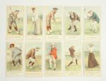 Cope's Golfers Cigarette Cards.