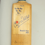 Signed Cricket Bat by Sussex, Kent and Notts
