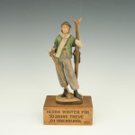 Wooden Ski Figurine Statue