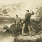 Salmon Poaching Photogravure, George Earl