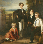 The Children of Dr Cumming, Cricket painting