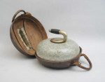 19th Century Curling Stone in Leather Case.