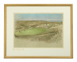 """Golf lithograph, Royal St. George's,""""The Maiden"""" Green."""
