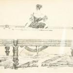 Lady Billiard Player (Julia Tichborne). Lithograph.