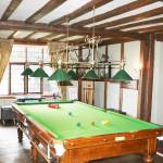 Vintage Brass Snooker Table Lamp.