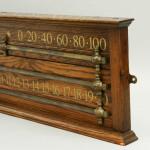 Oak Billiard Scoreboard