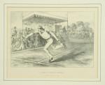 Antique Lawn Tennis Match, Lithographic Print, c. 1890's