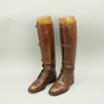 Brown Leather Field Boots With Trees