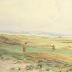 Golf Watercolour, Westward Ho!, by Hugh Percy Heard