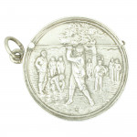 Antique Silver Golf Match Safe, Vesta Case