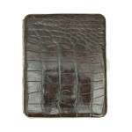 Crockodile Wallet with Silver Plated Fittings