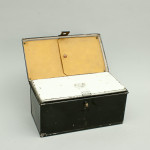 Fishing Tackle in Black Japanned Box.