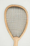 Antique Lop Sided Lawn Tennis Racket.