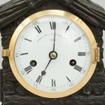 Mantel Clock by Grant, Log Cabin Design, Black Forrest.