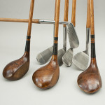 Set Of Eight Hickory Golf Clubs