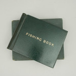 Green Leather Fishing Record Book