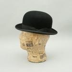 Vintage, English Black Bowler Riding Hat, Equestrian.