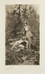 Antique Shooting Print By Arthur Wardle, On the Covert Side.