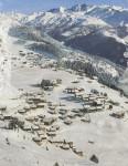 Travel Ski Poster - Riederalp